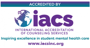 Accredited by International Association of Counseling Services. Inspiring excellence in student mental health care.